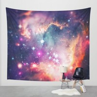 The Universe under the Microscope (Magellanic Cloud) Wall Tapestry by Badbugs_art | Society6