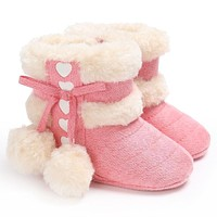 Fashion Super Warm Winter Baby Snow Boots 0-18 months Infant Shoes Girls Antiskid Keep Warm Baby Toddler Boots Shoes