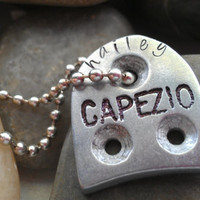 tap shoe necklace  personalized hand stamped dance jewelry