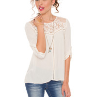Adeline Lace Top - Ivory