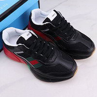 GG Rhyton Thick Soled Casual Printed Sneaker Shoes