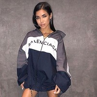 BALENCIAGA Women Men Fashion Zipper Cardigan Sweatshirt Jacket Coat Windbreaker Sportswear