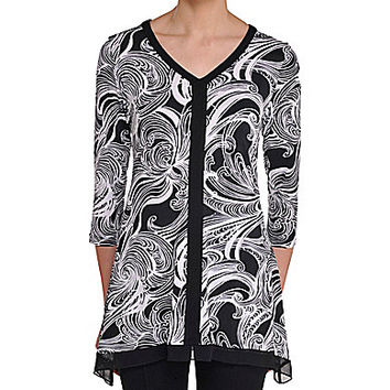 Sharkbite Tunic - Black/White