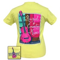 Sale Girlie Girl Originals Preppy Raised On Country Music T-Shirt