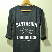 Slytherin Quidditch Shirt Harry Potter Shirts  Long Sleeve Unisex Size S M L