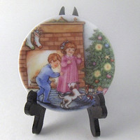 Vintage Plate Miniature Collectible Plate Porcelain Christmas Ornament