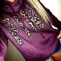 victoria s secret pink women s fashion letter print hooded long sleeves pullover tops sweater-5
