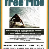 1977 Free Ride Surf Movie Ad Fine Art Print