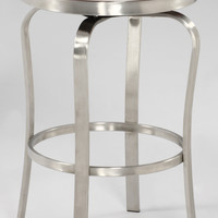 White Modern Backless Counter Stool