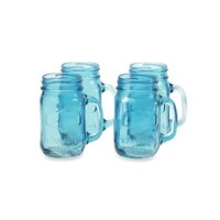 Yorkshire 17.5-Ounce Mason Drinking Jars (Set of 4) in Vintage Blue