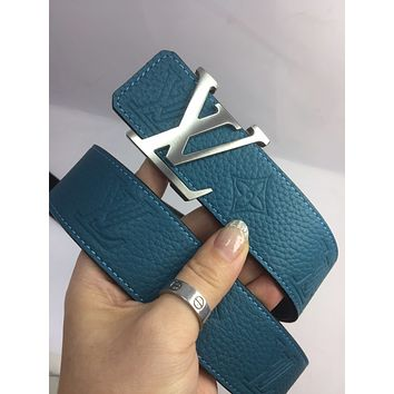 lv louis vuitton womens mens fashion smooth buckle belt leather belt monogram leather belt 23