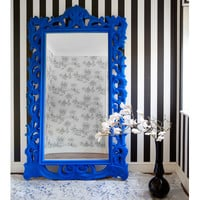 NEW! Flocked Isabelle Full Length Mirror (Any Colour)
