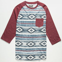 Retrofit Santa Fe Mens Baseball Tee Burgundy  In Sizes