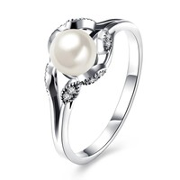 Sterling Silver Pandora Inspired Freshwater Pearl Ring