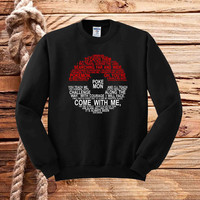 Pokemon Typography sweater unisex adults