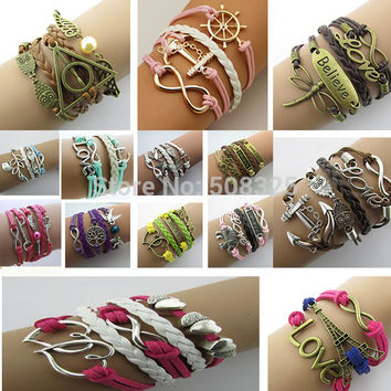 Double infinite multilayer bracelet