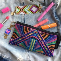 Tribe Embroidered Pouch Bag & Charm