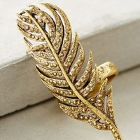 Alkemie Wisp Feather Ring in Gold Size: 8 Rings