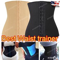 Good  Waist Trainer Cincher Belt Slimming Tummy Control training
