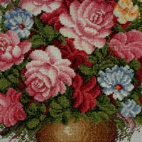 Completed cross stitch flowers Sweat love room decor Rose flower wall hanging Free shipping to everywhere