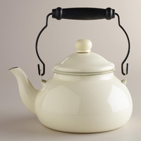 Ivory Vintage-Style Kettle - World Market