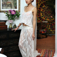 Fairy Lace Bridal Pajama Off White Ivory Lace Wedding Lingerie Bridal Sleepwear Sarafina Dreams 2014