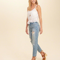 Girls Hollister High-Rise Girlfriend Jeans | Girls Clearance | HollisterCo.com