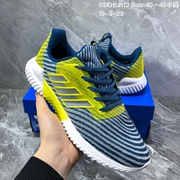 hcxx A1132 Adidas Energy Boost 2 ESM 2019 Mesh Breathable Running Shoes Blue Yellow