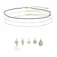 Charm Choker Necklace - Clear
