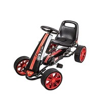 Peach Tree Kids Pedal Go Kart Ride On Toy Racing Cars Outdoor Toy Cart for Boys and Girls