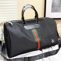 Hipgirls GUCCI Fashion New Stripe Shoulder Bag Crossbody Bag Handbag Black