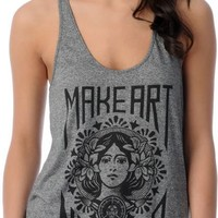 Obey Girls Make Art Not War Charcoal Heather Tank Top at Zumiez : PDP