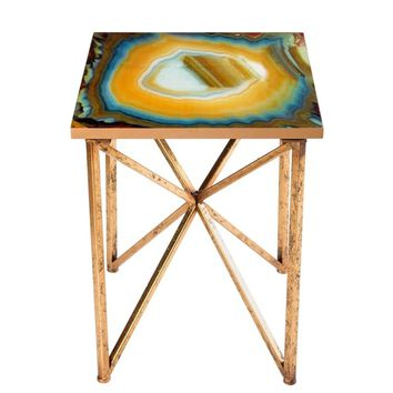 Faux-agate Side Table | Overstock.com Shopping - The Best Deals on Coffee, Sofa & End Tables