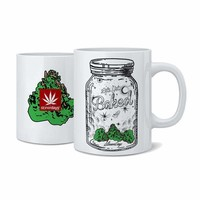 LETS GET BAKED MASON JAR COFFEE MUG