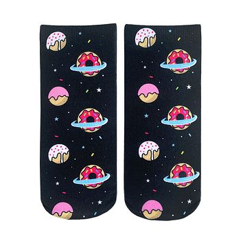 Galaxy Donut Ankle Socks