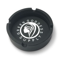 Round Silicone Ashtray - Black