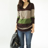 Women's Pullovers Cashmere V-neck- Soft sweater