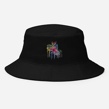 Flowers Print on Bucket Hat