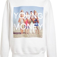 Untitled And Co Unisex 90210 Young Money Cotton Sweatshirt