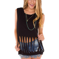 Ripped Out Top - Black