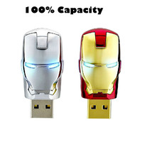 usb flash drive 8GB 16GB 32GB 64GB iron face pen drive Marvel Cartoon Iron man pendrive U disk Thumb usb stick memory stick