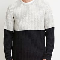 Colorblock Textured Knit Sweater