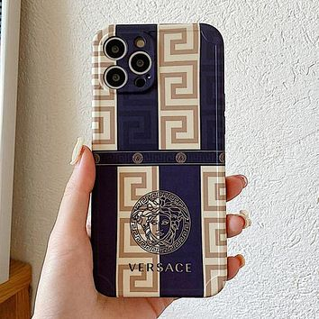 Versace Medusa for iPhone12proMax Apple 11 mobile phone shell XR78p soft cover mobile phone soft shell