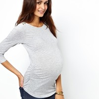 New Look Maternity | New Look Maternity 3/4 Sleeve Boat Neck Top at ASOS