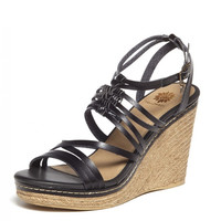 Yellow Box Lorena Wedge in Black