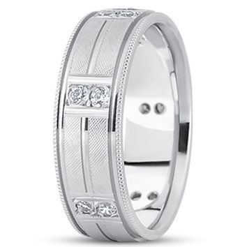 0.24ctw Diamond 14K Gold  Wedding Band (10mm) - (F - G Color, SI2 Clarity)