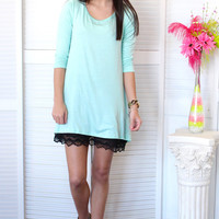 On My Mind Basic Tunic {Mint}