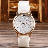 Elegant White Wrist Watch Women Lady Girl Casual Fashion Watches Glitter Beauty Quartz-watch 2016 Hot