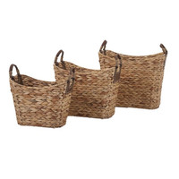 Niko Natural Weave Baskets - Set of 3