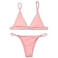 New Trending Best Color Women Brazilian Swimwear Bikini Set